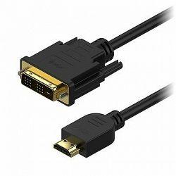 AlzaPower DVI-D na HDMI Single Link prepojovací 2 m