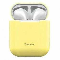 Baseus Super Thin Silica Gel Case pre AirPods 1/2 gen Yellow