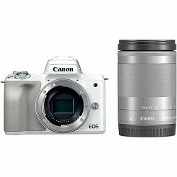 Canon EOS M50 biely + EF-M 18–150 mm IS STM