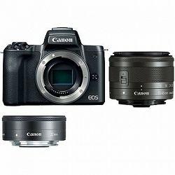 Canon EOS M50 čierny + EF-M 15–45 mm IS STM + EF-M 22 mm