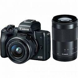 Canon EOS M50 čierny + EF-M 15–45 mm IS STM + EF-M 55–200 mm