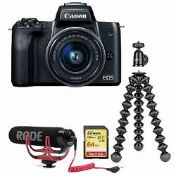 Canon EOS M50 čierny + EF-M 15-45 mm IS STM Vlogger Kit