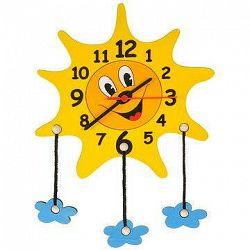 Detské drevené hodiny – Slniečko s mráčikmi