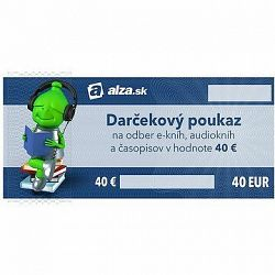Elektronický darčekový poukaz Alza.sk na nákup e-kníh, audiokníh a časopisov v hodnote 40 €