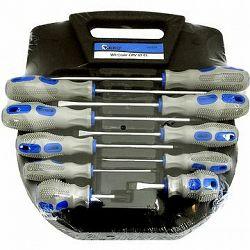 GEKO Súprava skrutkovačov, 10 ks, modro-sivé