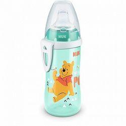 NUK fľaša Active Cup, 300 ml - Medvedík Pú, biela