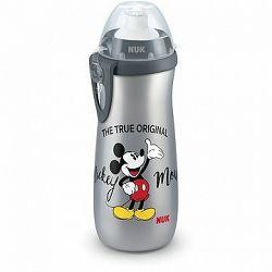 NUK fľaša Sports Cup, 450 ml – Mickey, sivá