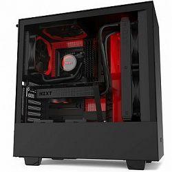 NZXT H510i Matte Black Red
