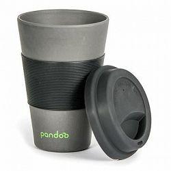 PANDOO Opakovane použiteľný bambusový téglik na kávu a čaj, 450 ml čierny