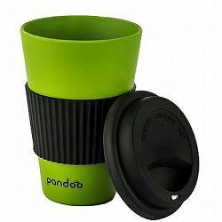 PANDOO Opakovane použiteľný bambusový téglik na kávu a čaj, 450 ml zelený