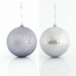 Plastové šedé koule, 10 cm
