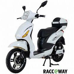 Racceray E-Moped, 12 Ah, biely-lesklý