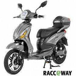 Racceray E-Moped, 12 Ah, sivý-lesklý